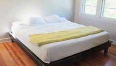 Fascinating Platform Bed Designs for Your Bedroom: DIY Floating Platform Bed With King Size Mattress ~ anahitafurniture.com Bedroom Design Inspiration