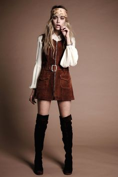 Short skirts and tall boots