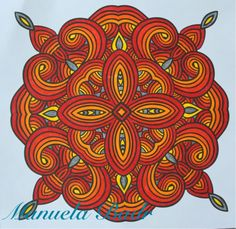 Uit Denksport Mandala ritme in kleur nr 1 | Gekleurd met Stabilo stiften | 28-06-2015