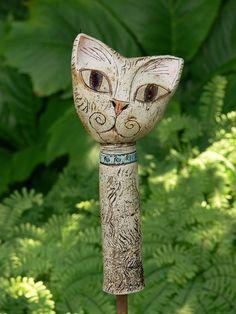 Pflanzen- & Gartenstecker - Katze »Mimi« - ein Designerstück von…