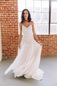 Bohemian Wedding Dress, Hippie Wedding Dress, Beach Wedding Dress, Vintage Wedding Dress, Organic Wedding Dress, Boho Wedding Dress, Indie Wedding Dress. ~ xo Azalea by Wear Your Love - from our Wildflowers Collection The Azalea is a refreshing take on classic beauty, with striking