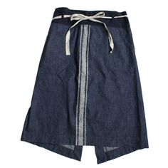 Lady's: × Black Mont discharge apron skirt 45R Online Storeku · Ra · si denim