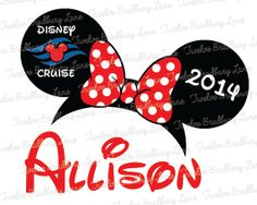 Disney Iron On Transfer DISNEY CRUISE by TwelveBradburyLane, $4.25