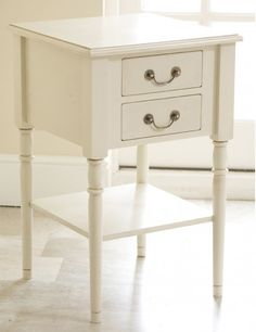 Modern French bedside table is recognized by its elegance and chic.