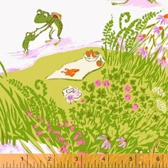 Heather Ross - Briar Rose - Frog Pond in Lilac