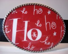 Holiday Belt Buckle Merry Christmas by MnMTreasures on Etsy, $20.00
