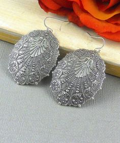 Silver EarringsAntiqueVintage by ManoCelebrates on Etsy
