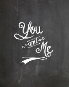 "Love the ""You & Me"" sign, perfect for so many sweet little spots around the wedding, or afterwards, at home"