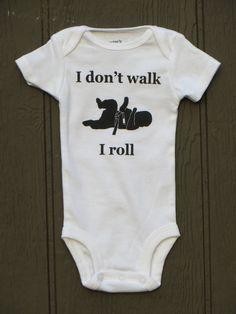 "baby jiu jitsu bodysuit onesie ""I roll"". $12.00, via Etsy.  bahahaha Jake would love this baby 3"