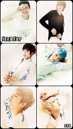 TEEN TOP ♡ C.A.P, Chunji, L.Joe, Niel, Ricky and Changjo ( and his abs  )