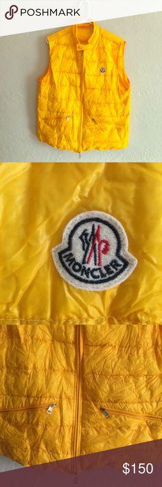 Moncler Men's Gui Puffer Vest Yellow Moncler Men's Gui Puffer Vest Yellow. Comes with with bag. Light weight. Never worn. Moncler Jackets & Coats Vests