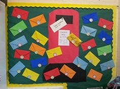 Our class advent display....each letter is numbered & inside a photo of each child except 24 which is gold & has baby Jesus inside