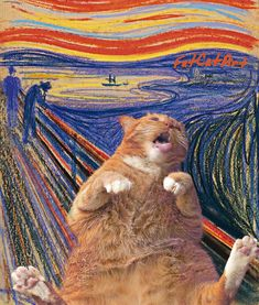 Fat Cat Art: I Insert My Ginger Cat Into Famous Paintings New Pics) - Wanderlust Kittens Cutest, Cute Cats, Cats And Kittens, Ragdoll Kittens, White Kittens, Black Cats, Kitty Cats, Crazy Cat Lady, Crazy Cats