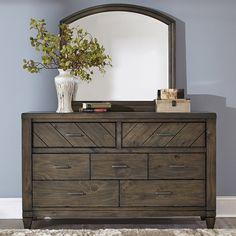 Liberty Furniture Modern Country 7 Drawer Dresser - 833-BR31