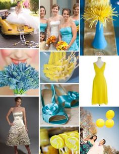 yellow and blue wedding 0 | Luv and I Do…  www.LuvandIDo.com