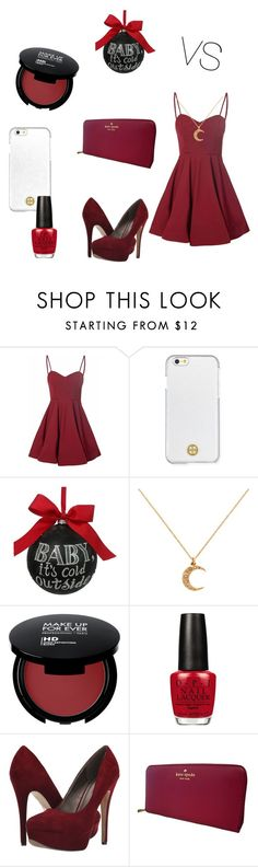 """Unbenannt #30"" by vikiseres ❤ liked on Polyvore featuring Glamorous, Tory Burch, Sage & Co., Cachet, OPI, Michael Antonio and Kate Spade"