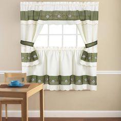 CHF Industries Cottage Ivy Kitchen Curtain Set - 1Z45640XMU ...