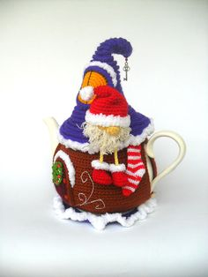 Tea cozy House of Santa Claus Fairy house teapot cosy Crochet Fairy, Crochet Santa, Christmas Crochet Patterns, Fairytale House, Tea Cozy, Christmas Tea, New Year Gifts, Cozy House, Cosy