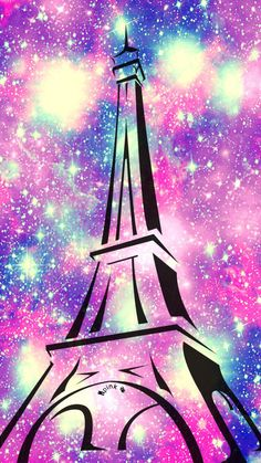 Eiffel Tower Galaxy iPhone/Android Wallpaper I Created For The App Top Chart  #patternwallpaper #iphonewallpaper #EiffelTower #Paris #galaxywallpaper #cutewallpaper #girlywallpaper #homescreen #colorfulwallpaper #cocoppa