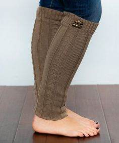 Look what I found on #zulily! Mocha Toggle Button Boot Warmer #zulilyfinds