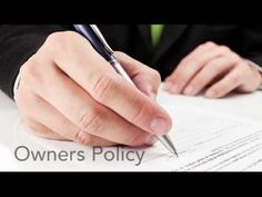 Types of Title Insurance Policies.    [sociallocker][/sociallocker] When you are ready to close your transaction and buy your new home, you will notice that there are two types of title insurance policies. This is because the ... source