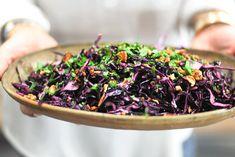 Salada de Couve-roxa com Amêndoas Crocantes ♥ GlutenFree com paixão
