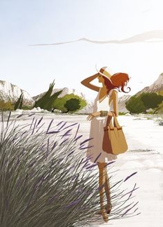 Matthieu Forichon // fashion illustration // the summer wind