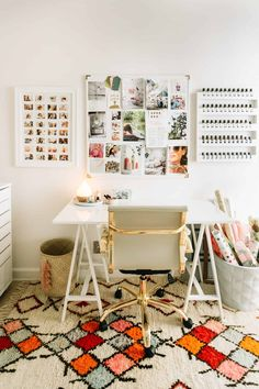 Elsie's Office Tour – A Beautiful Mess – Creative Home Office Design Home Office Design, Home Office Decor, Office Furniture, Office Desk, Home Decor, Office Inspo, Office Chic, Desk Redo, Desk Inspiration