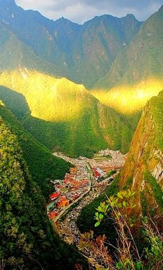 Aguas Calientes, sometimes referred to as Machupicchu Town, is a town in Peru on the Urubamba River. It is the closest access point to the historical site of Machu Picchu, which is 6 kilometres away or about a 1.5 hours walk, and it is a lovely place to stay overnight.