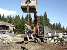 Guy's Crazy Excavator Ride