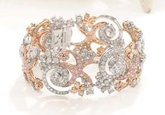Boodles Sea Star bracelet with white and pink diamonds, from the new Ocean of Dreams collection.