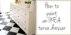 Ikea Tarva Dresser Makeover with instructions on how to prime and paint!