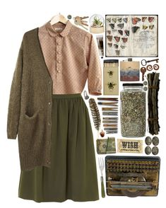 """""""follow me into the woods"""" by hiddlescat ❤ liked on Polyvore featuring Kilian Kerner Senses, Acne Studios, Pyrrha, Shea's Wildflower, TokyoMilk, Rosanna and vintage"""