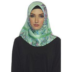 Hijabstore - Angel Lelga Original Scarf 249 Abstrak - Hijau Muda