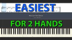 Mexican Hat Dance Short Version EASIEST Piano tutorial for everybody 100 % normal speed for two hand Mexican Hat, Dance Shorts, Piano Tutorial, Easy Piano, Bar Chart, Tutorials, Bar Graphs, Wizards