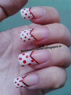 Day 1: Red French Manicure Nails