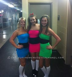 Power Puff Girls! This site is full of unique and DIY costume ideas. Must remember this for next year!