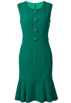 verde ♥ vestido de estilo vintage!!