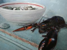 Clams with Lobster - Vincent Giarrano. His work breathes.