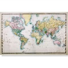 Canvas map, $14 from Kmart