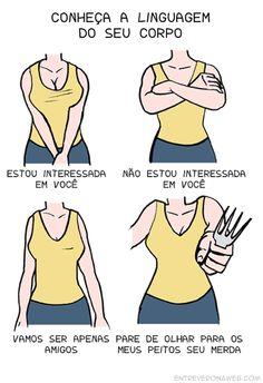 Reconhecendo a linguagem corporal de uma mulher: