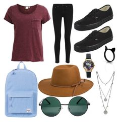 Untitled #4 by cohenoa on Polyvore featuring polyvore, fashion, style, Object Collectors Item, rag & bone, Vans, Herschel Supply Co., Vince Camuto, Olivia Burton, YHF and RHYTHM