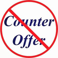 Our statistic prove that 87% of counter offers go wrong within 6 months due to…