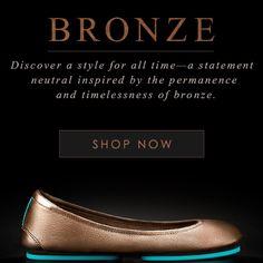 Tieks Metallic Bronze