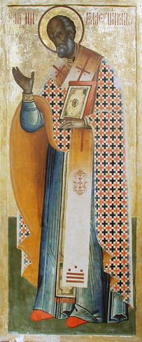 Saint Nicholas, Russian icon from first quarter of 18th cen.