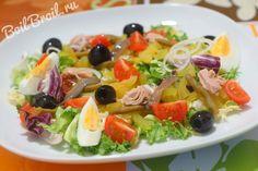 Салат нисуаз с тунцом