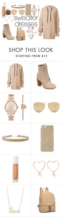 """""""#Sweater Dress"""" by bowkam on Polyvore featuring Unravel, Timberland, Michael Kors, Loewe, Humble Chic, Puma, Ana Accessories and Sydney Evan"""