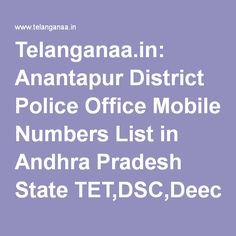 Telanganaa.in: Anantapur District Police Office Mobile Numbers List in Andhra Pradesh State…