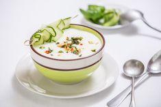 Letní okurková polévka – Snědeno.cz Gazpacho, Soup Recipes, Panna Cotta, Pudding, Ethnic Recipes, Desserts, Soups, Tailgate Desserts, Chowders
