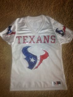 Texans Glitter and Bling Jersey on Etsy, $75.00